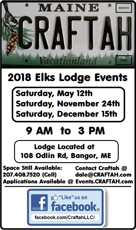 Craftah Fairs: Elks Lodge