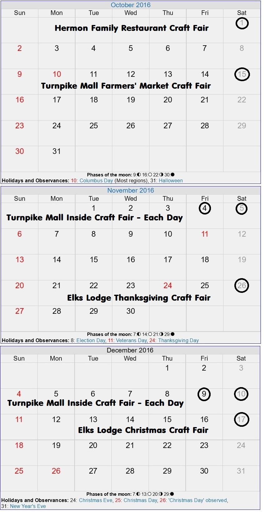 September Event for Craftah Fairs